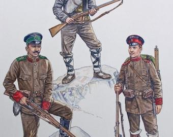 The Bulgarian Army - Armies of the Balkan Wars 1912-13 - Osprey Art