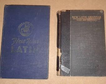 2 Latin School books (1916 and 1949)