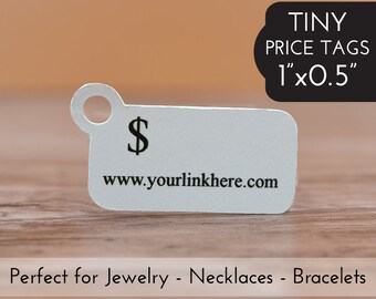 """0.5""""x1"""" PRICE TAGS - 250 - Small Tiny Jewelry Price Tags for Necklaces Bracelets Rings"""