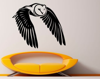 Owl Wall Decal Bird Vinyl Sticker Housewares Animal Art Modern Stylish Mural Interior (9ow2lw)