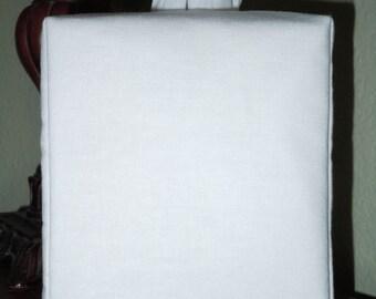 Essex vierge blanc boite à mouchoirs sans monogramme
