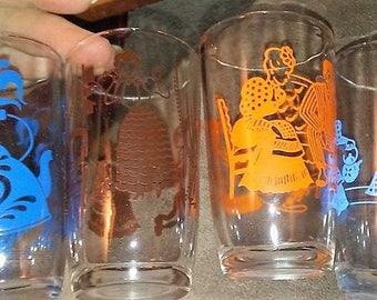 Sale-4 Vintage Swanky  Swig Juice Glasses