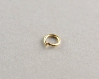 Gold Fill Ring, 5.8mm Heavy 18 Gauge Open Jump Ring for Charms on Bangle