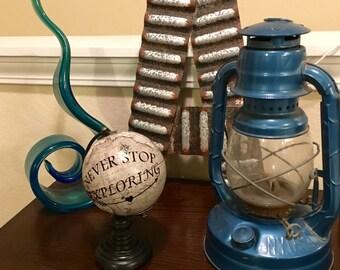 Never Stop Exploring- Mini World Customized Desk Globe- Wedding Gift Idea - Custom World Globe- Travel Gift- Graduation Gift