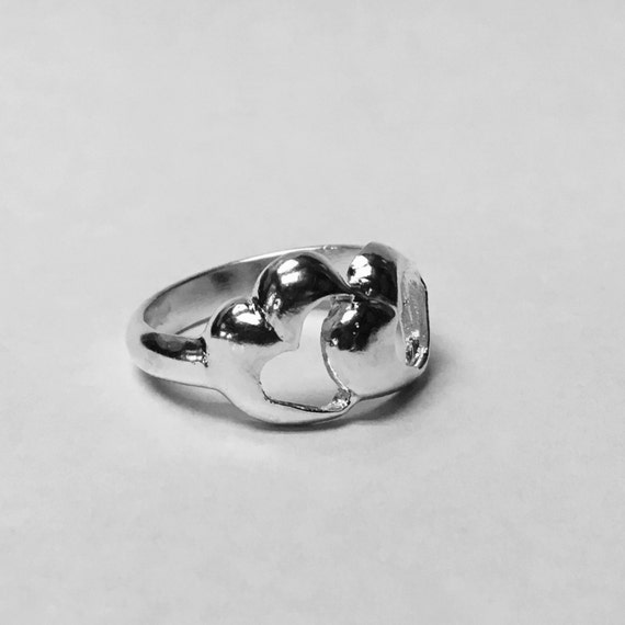 Double hearts ring,Sweethearts Ring, Silver Jewelry, Heart jewelry, Lovers ring, best friends ring, lovers jewelry, best friends jewelry