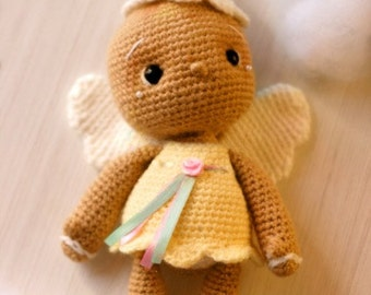 Elfin Thread- Vintage Gingerbread Angel Chookie Amigurumi PDF pattern (Gingerbread Crochet PDF Pattern)