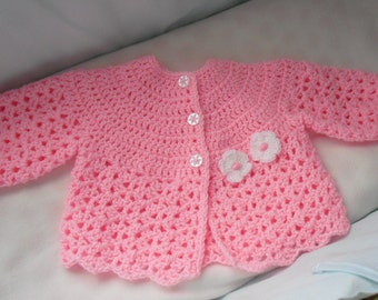 Instant Download - PDF-Beautiful Matinee Coat with Flower Crochet Pattern (CB8)