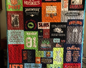T Shirt Quilt Memory Quilt Order Quilt You Pick Size for Kathy C - Deposit Only