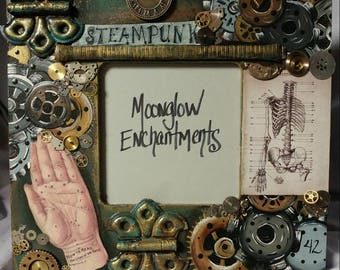 Steampunk Inspired Collage Picture Frame
