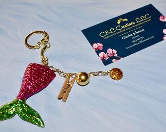 Mermaid & Charms key chain