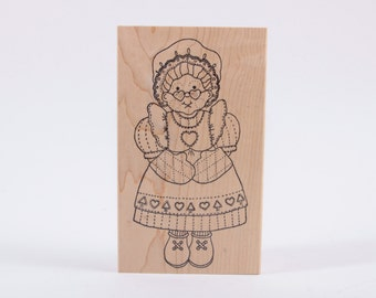 XL, Azadi Earles, Grandmother Grandma Rubber Stamp - Vintage - Card Making - Crafts - Paper Crafts - Ephemera ~ 161221