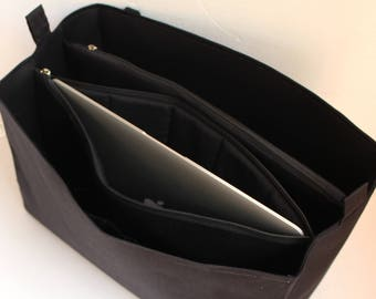 Extra taller bag organiser to fit GIVENCHY Antigona- Purse organizer insert with two divider zipper compartment