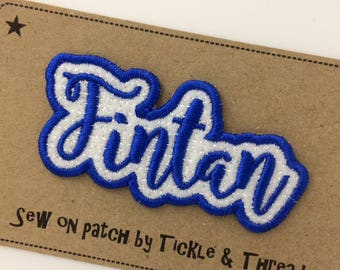 6 Letter Sew on Name Patch - Made to Order