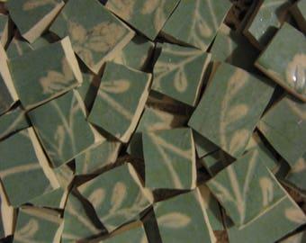 Sango ~ Fresh Flowers ~ Aqua Broken Plate Mosaic Tiles ~ Pique Assiette Supplies