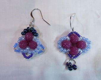Stylish Asymmetrical Earrings, Beaded Earrings, Beautiful Earrings