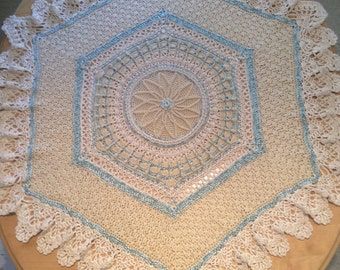 Little prince or princess baby crochet blanket pattern