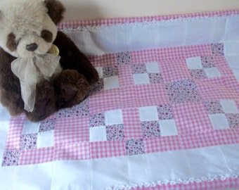 Baby patchwork quilt/ play mat