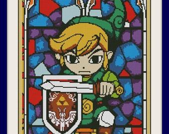 Link 'I'm not Zelda Cross Stitch Pattern, BOGO, Quote cross stitch, PDF counted cross stitch pattern,,R062