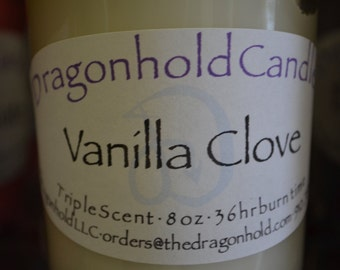Vanilla Clove Candle: Hand Poured, Triple Scented Soy-Paraffin Candle