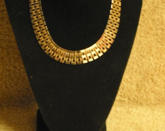 Exquisite Vintage Gold Plated Chain Necklace