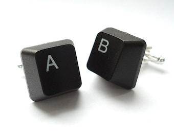 Groomsmen Cufflinks, Handmade from Computer Keyboard Keys, Wedding Cufflinks, Recycled Cufflinks, Grooms Cufflinks, fathers day gift