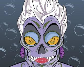 Ursula Sugar Skull 11x14 print
