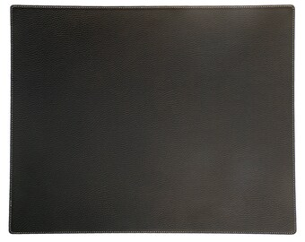 Black Blotter size 50'' x 20'' / 127 x 50 Recycled Leather Large Table Mat Large placemat Table runner