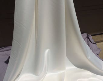 Lamour Ivory Satin Fabric ~ by the yard