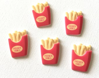 French Fry Magnets, French Fry Thumbtacks, French Fry Pushpins, Refrigerator Fridge Magnets, Junk Food, Fast Food Fry, Bulletin Board Decor