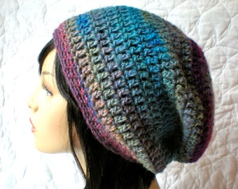 PATTERN:  Aurora Slouch-  slouchy beanie hat P D F, easy crochet pattern, InStAnT DoWnLoAd, Permission to Sell