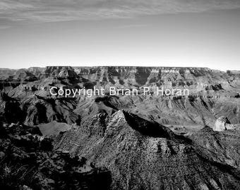 Grand Canyon in Black and white