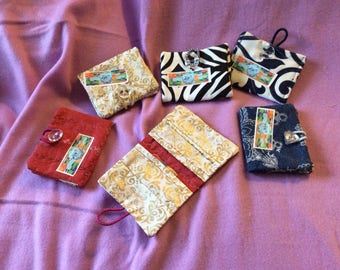 Quilted card wallets