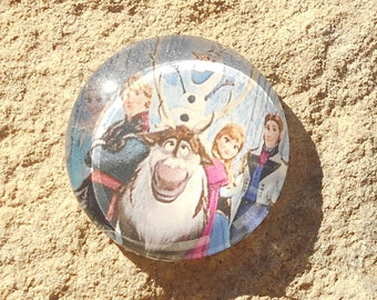 Glass cabochon 25 mm Princess collection