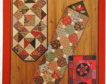 """Anka's Treasures Table Runners Quilt Pattern ~ """"Little Charmers"""" #ANK264"""