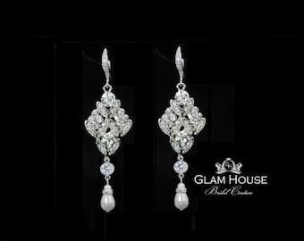 Wedding earrings,Bridal earrings,crystal earrings,wedding jewelry,bridal jewelry,prom night earrings,hollywood glamour,chandelier earrings