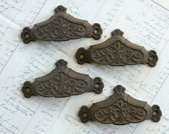 Cast Iron Drawer Pull Antique Hardware Vintage Home Improvement