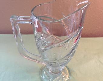 Cut Glass Juice Pitcher