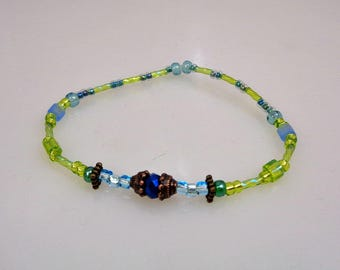 Fancy Glass Bead Stretchy Bracelet