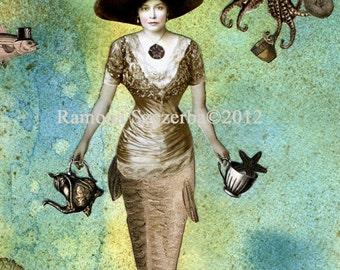 Eine Meerjungfrau Tee - PRINT