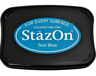 StazOn Teal Blue Ink Pad