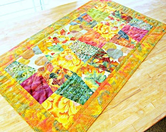 Fall Table Runner, Autumn Table Runner, Quilted Table Runner, Modern Table Runner, Fall Table Topper, Patchwork Runner, Patchwork Table