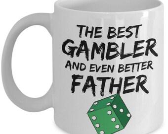 FUNNY GAMBLER GIFT, Gambler Dad Gift, Gambler Dad Mug, Casino Lover Gift, Funny Gambler Mug, Gambler Father Gift, Gambler Fathers Day Gift
