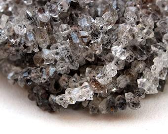 "Best Quality 16"" Long Herkimer Diamond Quartz, Diamond Quartz,Birthstone,Beads 5x8-6x10mm ,Center Drilled,Making Jewelry,Wholesale Price"
