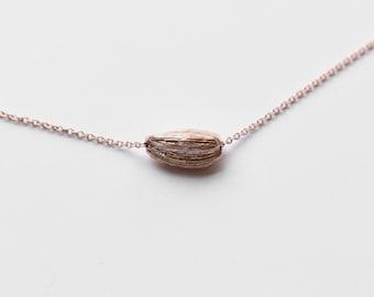 cardamom pod necklace | minimalist jewelry | gold pendant necklace | silver pendant necklace