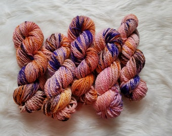 Flamenco, Bulky Weight Yarn, Hand Dyed Yarn( 100 percent Superwash Merino Wool)