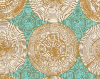 Joel Dewberry Fabric Tree Ring Bling in Dijon 1/2 Yard from the Modernist Collection