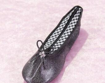Trousse chausson danse noire paillettée