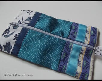 Cosmetic case patchwork fashion, fancy fabrics