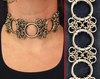 Aura Choker - Stainless Steel - One of a kind