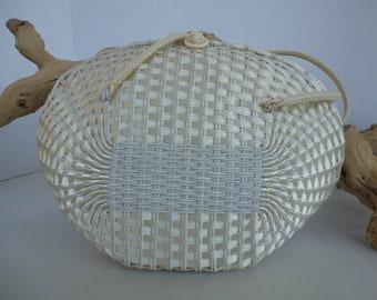 Woven Straw Handbag